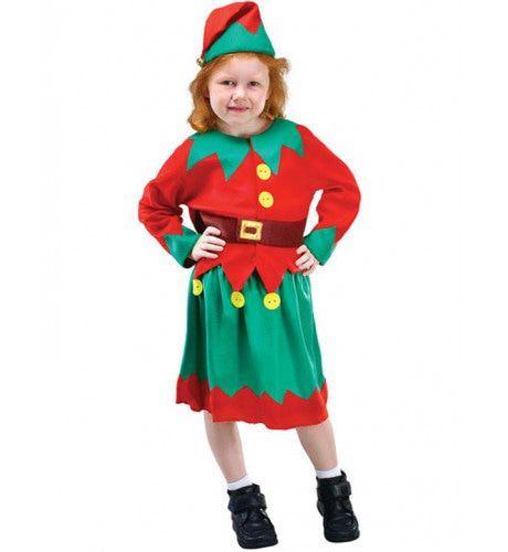 Kerstmans Hulpje Elf Meisje Kostuum