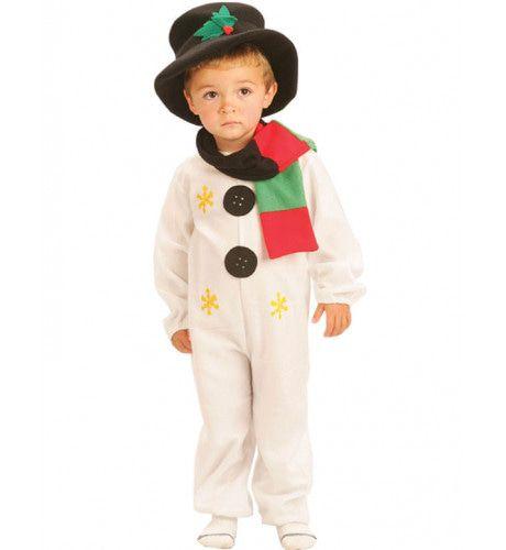 Schattige Sneeuwpop Kind Kostuum Kind
