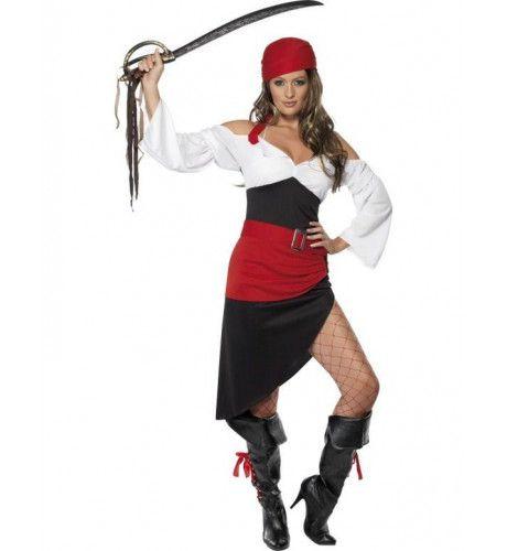 Brutale Piratenmeid Vrouw Kostuum