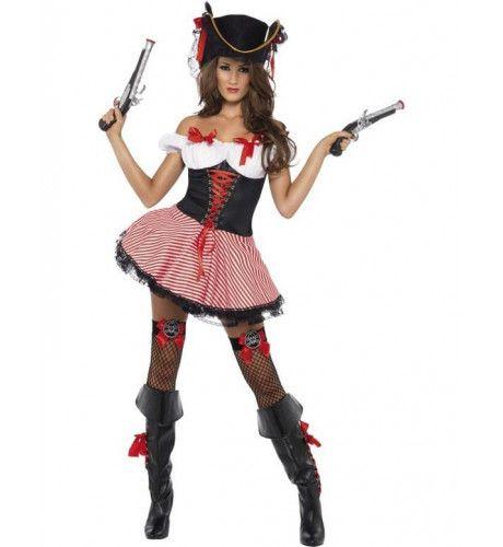 Fever Piraat Vrouw Kostuum