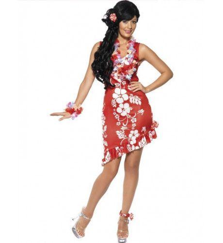 Hawaiiaanse Schoonheid Vrouw Kostuum