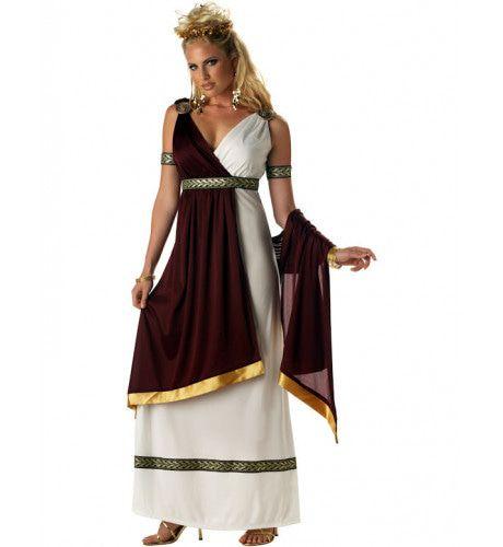 Elegante Romeinse Keizerin Vrouw Kostuum