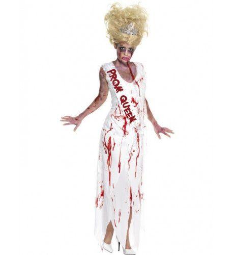 Horror Prom Queen Vrouw Kostuum