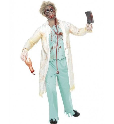Zombie Dokter Man Kostuum