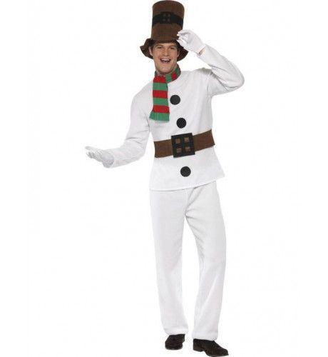 Vriendelijke Sneeuwpop Man Kostuum