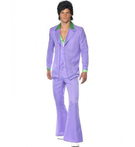 Jaren 70 Lavendel Man Kostuum