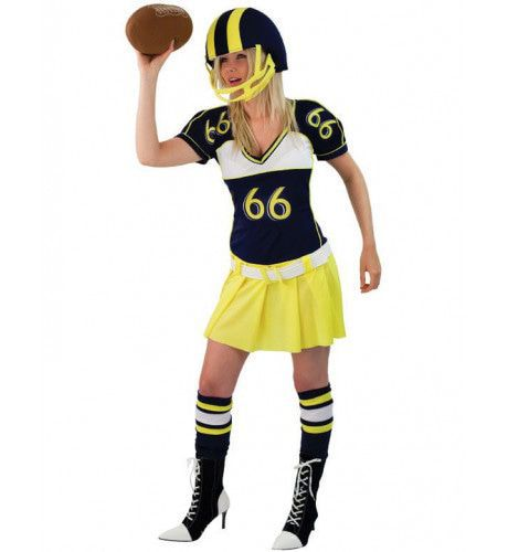 American Football Girl Vrouw Kostuum