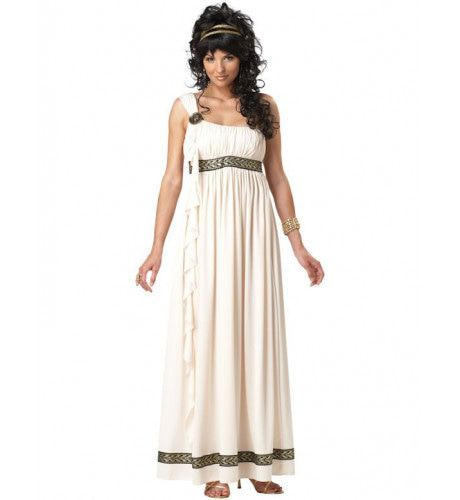 Olympische Godin Vrouw Kostuum
