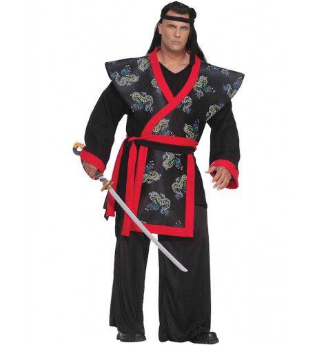 Duistere Samurai Strijder Maatje Meer Man Kostuum