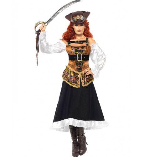 Steampunk Stijlvolle Pirate Vrouw Kostuum