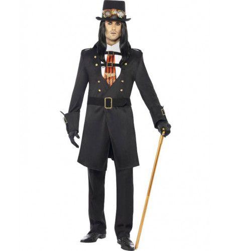 Steampunk Vampier Man Kostuum