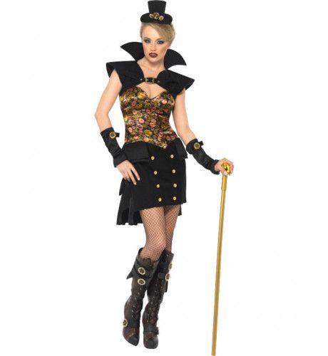 Sexy Steampunk Kostuum Van De Vampier Vrouw
