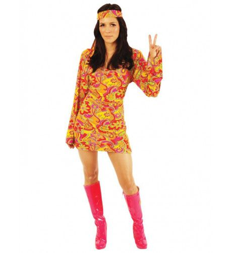 Vrouwelijke Hippie Kostuum Peace Misses Vrouw