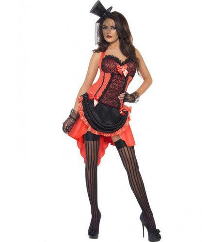 Sexy Moulin Rouge Vrouw Kostuum