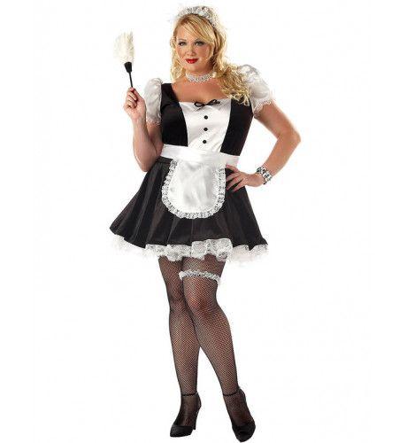 Kamermeisje (Grote Maat) Vrouw Kostuum