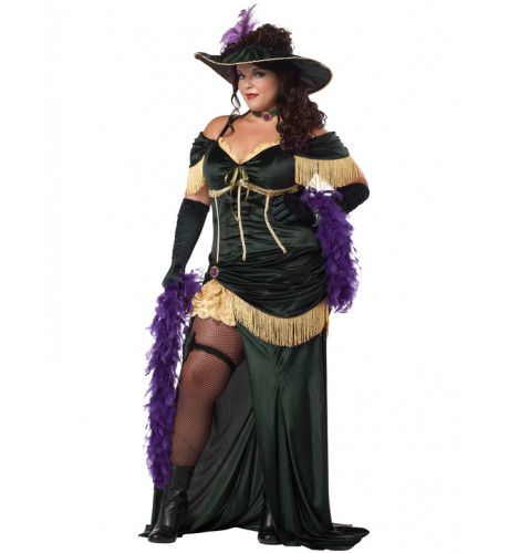 Saloon Madame Kostuum (Grote Maat) Vrouw
