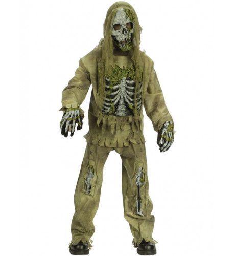 Kind Skelet Zombie Kostuum Jongen