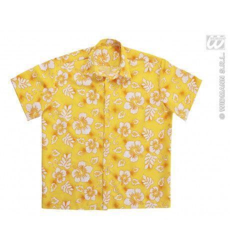 Hawaii Shirt Geel Man Kostuum