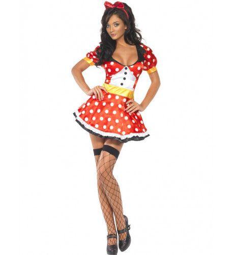 Sexy Miss Mouse Kostuum Kort Vrouw