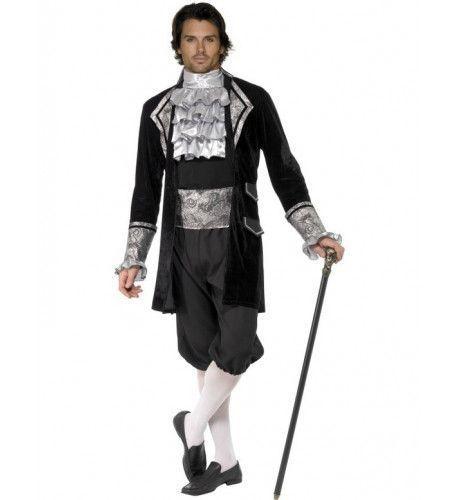 Barok Vampier Man Kostuum