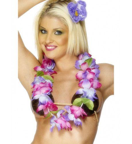 Hawaiiaanse Bloemenketting Roze & Paars