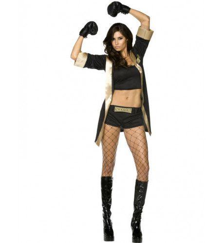 Sexy Boxermeisje Vrouw Kostuum