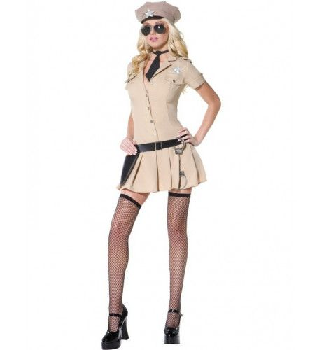 Fever Wellustige Sheriff Vrouw Kostuum