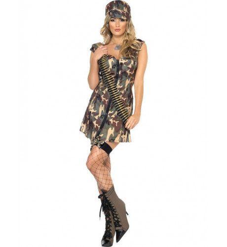 Sexy Soldate Vrouw Kostuum