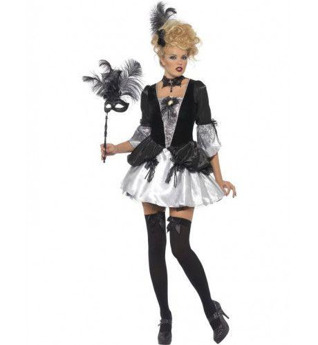 Fever Barokke Schurk Halloween Vrouw Kostuum