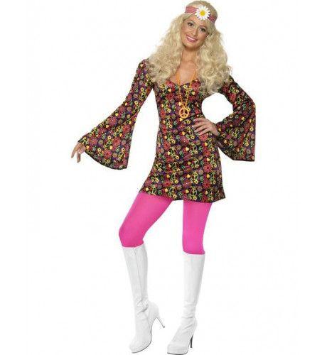 Hippie Jurk Kostuum Miss Happytales Vrouw