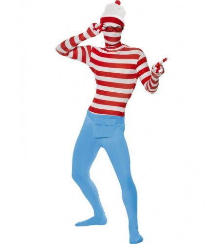 Waar Is Wally Second Skin Kostuum Man