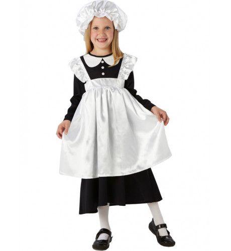 Victoriaans Keukenmeisje Kostuum