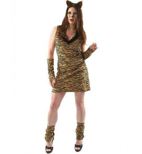Vrouw Tijger Vrouw Kostuum