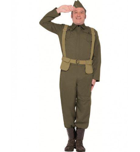 Landmacht Soldaat Man Kostuum
