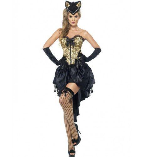 Burlesque Kitty Vrouw Kostuum