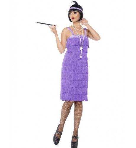 Flapper Jurk Vrouw Kostuum