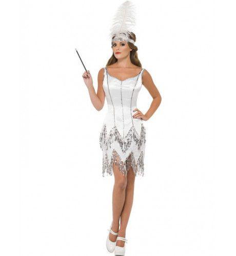 Sexy Flapper Vrouw Kostuum