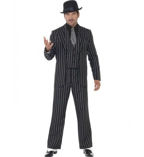 Stijlvolle Gangster Man Kostuum