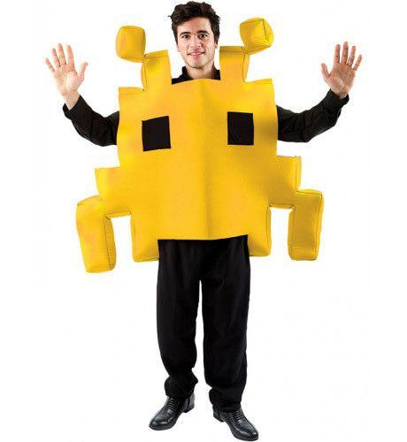 Geel Space Invader Kostuum
