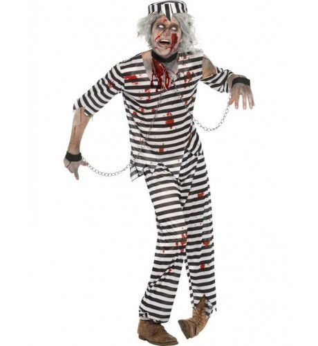 Zombie Gevangene Man Kostuum