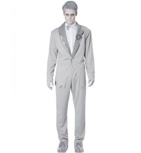 Spook Bruidegom Man Kostuum