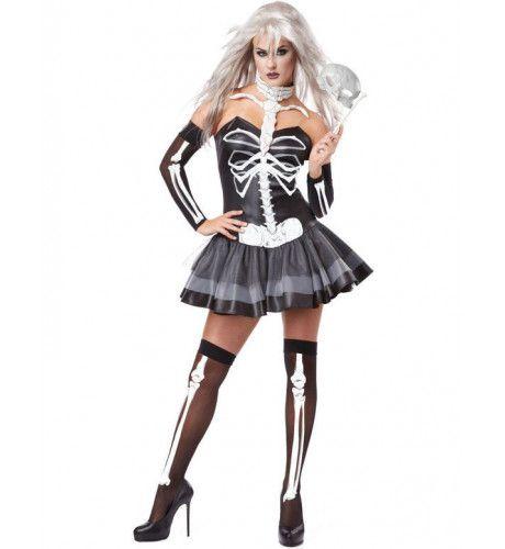 Sexy Skelet Vrouw Kostuum