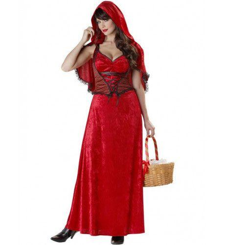 Roodkapje Lange Jurk Vrouw Kostuum