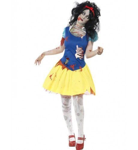 Zombie Sneeuwwitje Vrouw Kostuum