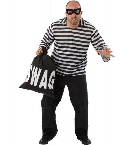 Burglar Bill Stripfiguur Boeven Man Kostuum