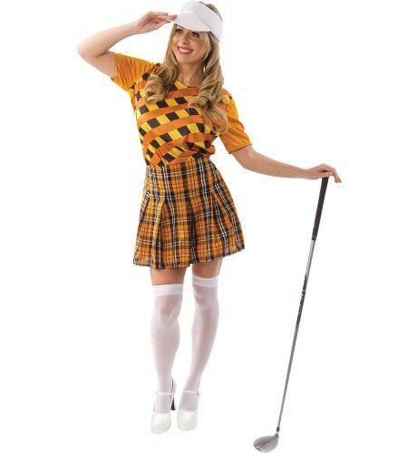 Golf Trutje Kostuum Oranje En Zwart Vrouw
