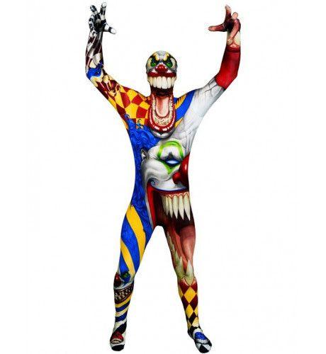 Kinder Horror Clown Morphsuit Jongen Kostuum