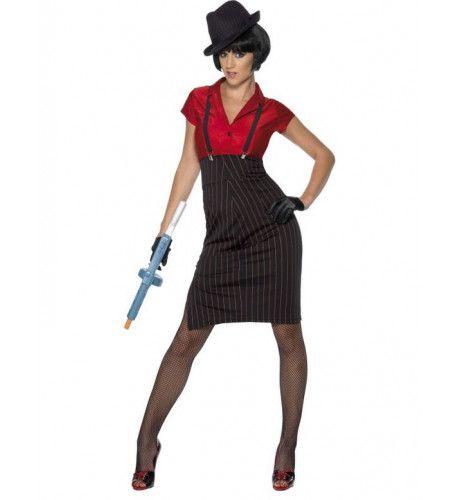 Jaren 20 Gangster Vrouw Kostuum