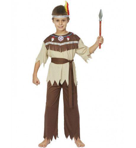 Moedige Indiaan Jongen Kostuum