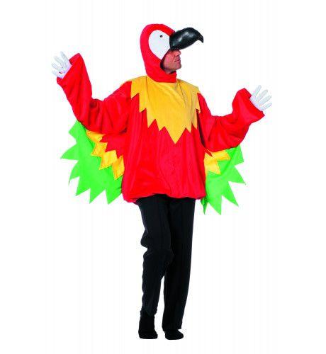 Veelkleurige Papegaai Man Kostuum